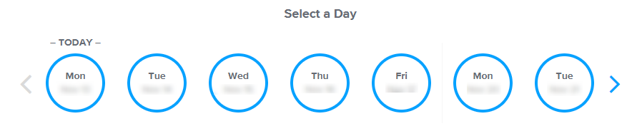 Choose a day